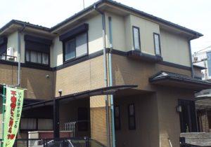 練馬区A様邸 外壁屋根塗装施工事例 施工前